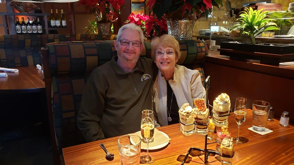 Sue Stretar and Dennis Stretar celebrate Dennis's 70th birthday in December 2019. Sue was diagnosed with dementia that year but the couple has since sought the help of geriatric mental health resources