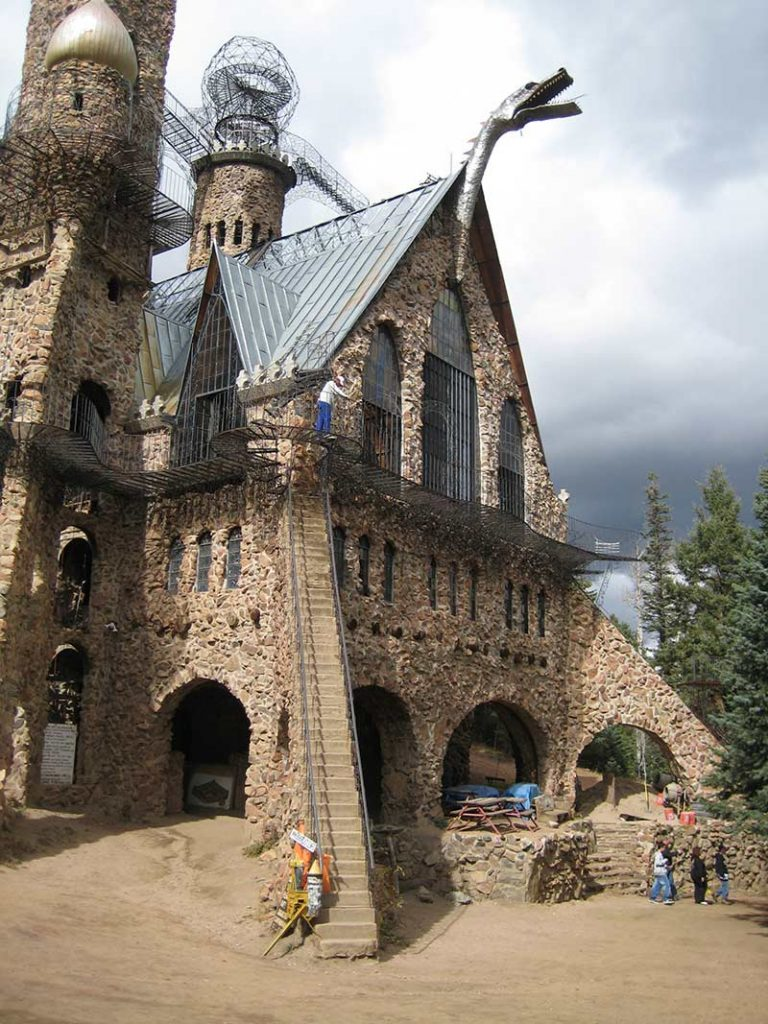A famous castle in Colorado made by Jim Bishop.