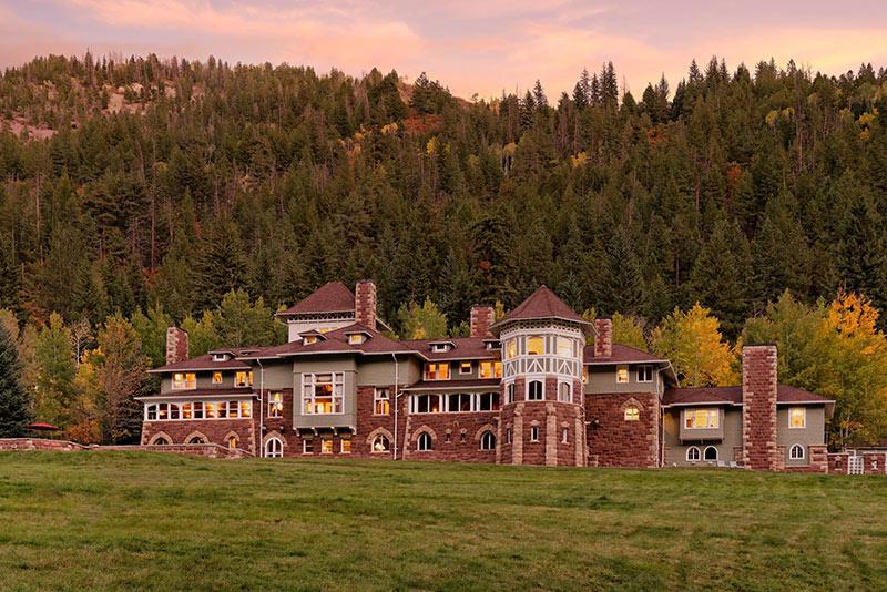A famous castle in Colorado, Redstone Castle near Aspen.