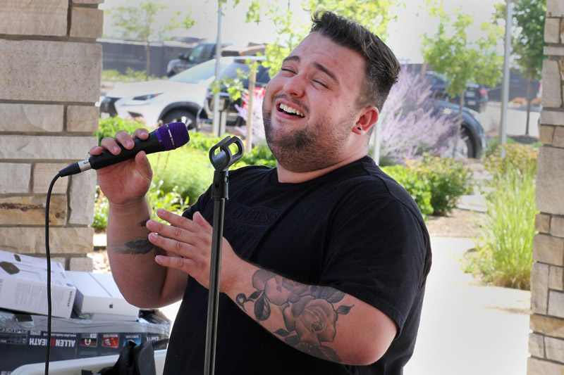 Jacob Larson sings his heart out to his health care team 17 months after he got out of the intensive care unit, where he was one of the youngest patients with COVID-19.
