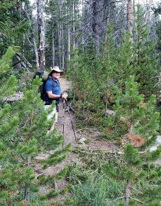 Mike Oster hiking after his robotic thymectomy that alleviated his symptoms of myasthenia gravis. Photo courtesy of Mike Oster.