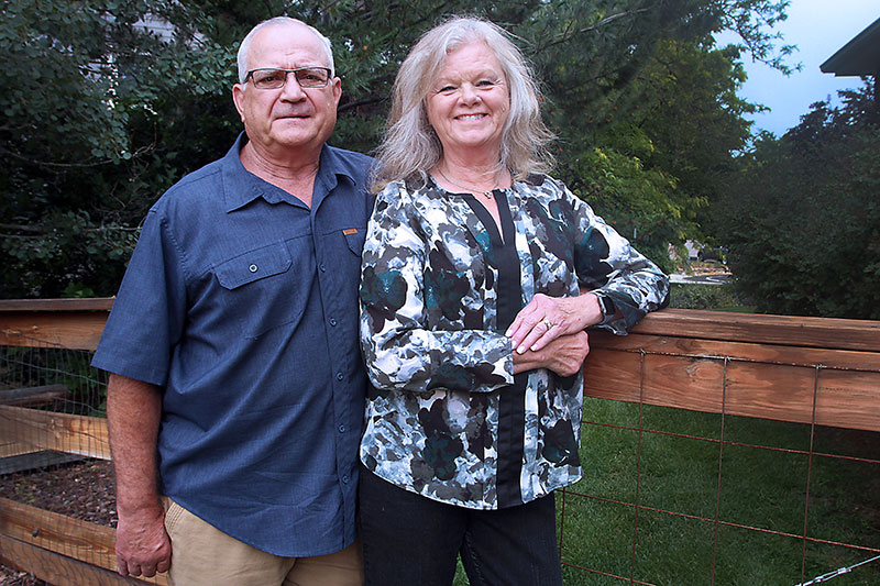 Mike Oster and his wife, Phyllis, who are now enjoying retirement today since Mike's robotic thymectomy helped alleviate his health issues with myasthenia gravis.