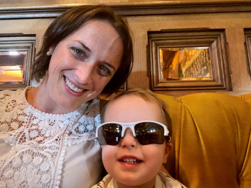 Anne Kercsmar and son Anderson, who arrived in 2019 after Anne's IVF treatments. Photo courtesy of Anne Kercsmar.
